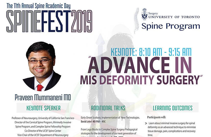SpineFEST 2019 - UofT Division of Orthopaedic Surgery