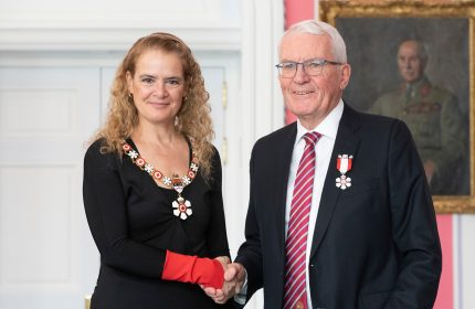 14/03/2019 Ottawa, Ontario, Canada The Governor General presented the Member insignia of the Order of Canada to James Patterson Waddell, C.M.